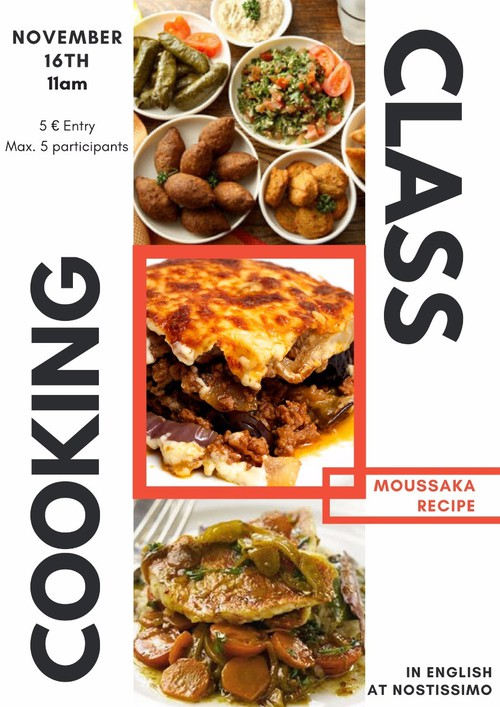 Cooking classes 11 am lesson 1 moussaka pinewood pinewood sign up for our cooking classes nostissimo with despina forumfinder Gallery
