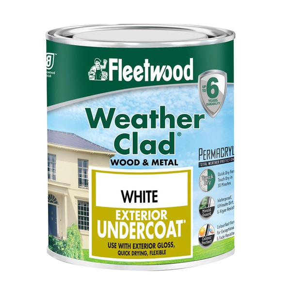 Weather Clad Exterior Primer Undercoat Wood & Metal FLEETWOOD