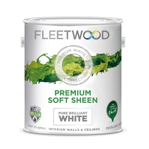 Fleetwood Premium Soft Sheen Brilliant White Paint - 10 Litre