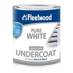 Quick Dry Primer Undercoat Pure White Paint FLEETWOOD